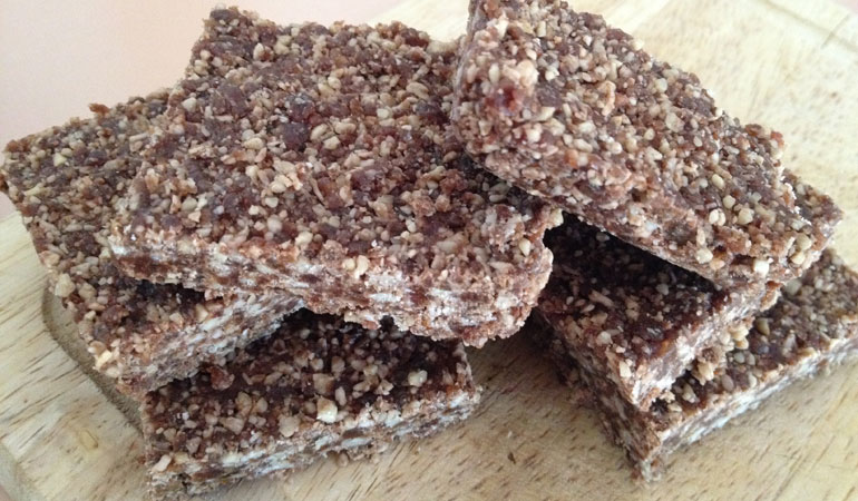 5 Minute Coconut Date Bars